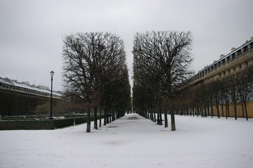 Palais-Royal in the snow